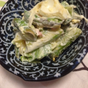 たっぷりゆで卵のアスパラサラダ:303