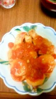 カフェの味を再現!鶏手羽とサツマイモのトマト煮