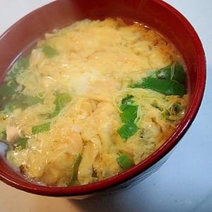 白だしで 長葱と生姜と卵のとろみ汁♬