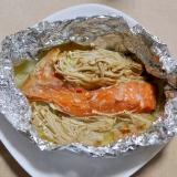 塩鮭と白菜とえのきのホイル焼き