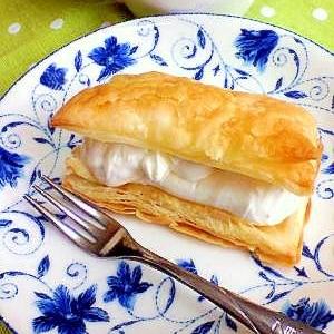 レモン風味のチーズクリームパイ
