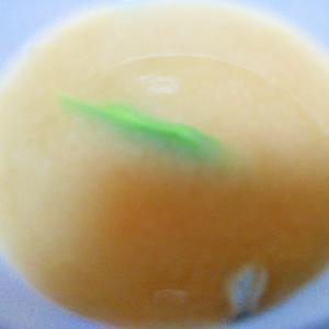 モロッコインゲンの味噌汁