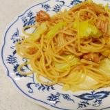 鰹とキャベツの薄味上品ナポリタン(麺も少なめ)