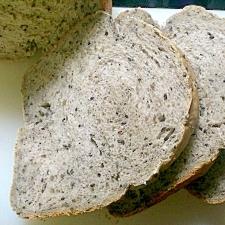 HBで簡単♪極ふわな黒ゴマの食パン☆