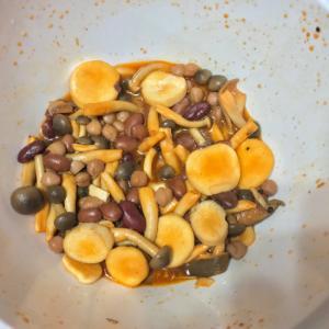 超簡単! きのこと豆の韓国風