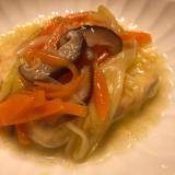 簡単*きのこと野菜のあんかけの揚げ出し豆腐