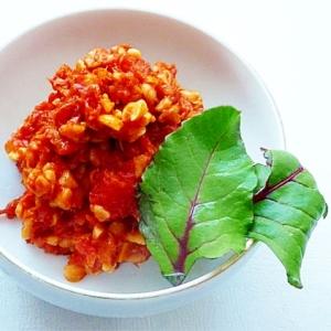 納豆のトマトチーズ焼き