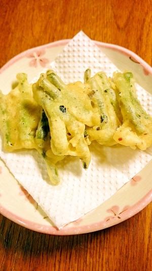 ささげ豆の天ぷら