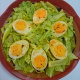 簡単で珍しいメニュー。卵とキャベツのスパイス炒め◎