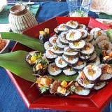 家族で作ろう!簡単、韓国海苔巻き