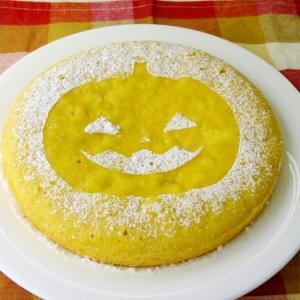 ホットケーキMIXで作るハロウィンかぼちゃケーキ♪