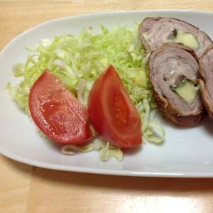 豚肉の大葉チーズ巻焼き