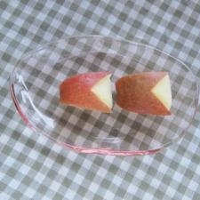 幼稚園弁当に◎小さなうさぎりんご