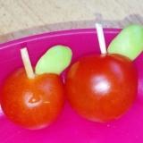 プチトマトでりんご
