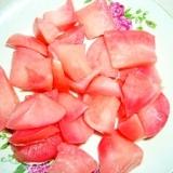 赤いかぶの梅酢の浅漬けもの