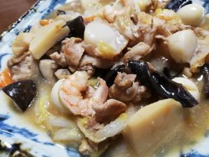 白菜や海鮮などで八宝菜