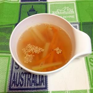 にんじんとセロリのスープ