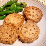 豆腐・蓮根バーグ、海苔佃煮風味