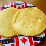 コーンクリームで米粉パンケーキ(卵・小麦・乳なし)