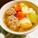 タイ風春雨ミートボールスープ