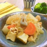 こんにゃくレシピ☆白滝であっさり味の筑前煮