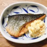 【夫婦のおつまみ】鮭のムニエルとタルタルソース添え