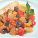 夏野菜のラタトゥイユ&カジキのソテー
