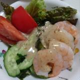 エビと海藻のお手軽サラダ