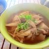 きのこと豆腐の和風スープ