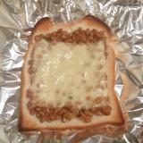 和風納豆チーズトースト