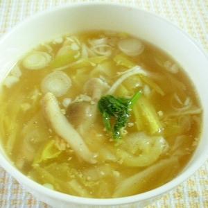 ☆白菜としめじのあったかスープ☆