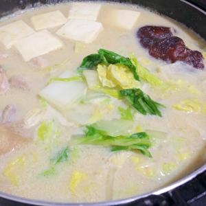 豆乳つゆで☆鶏肉と白菜の豆乳鍋