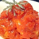 トマト缶で簡単ヘルシー煮込みハンバーグ♪