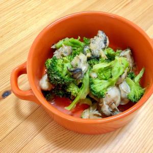 ワインに‼️☆牡蠣とブロッコリーのガーリックソテー