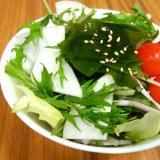 かぶと水菜のワカメサラダ!