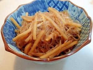糸蒟蒻と水煮筍の煮物