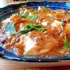 簡単★くずし豆腐の鶏そぼろあんかけ