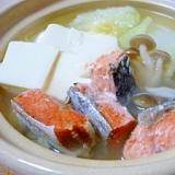 塩鮭の水炊き