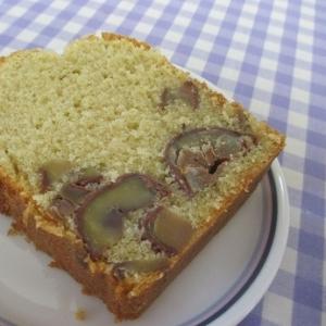 栗の渋皮煮で米粉パウンドケーキ