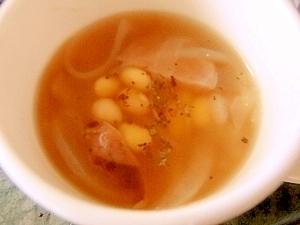 玉ねぎたっぷり★大豆のコンソメスープ