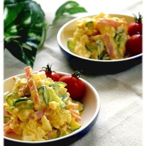 胡瓜と玉ねぎの卵サラダ