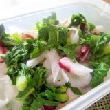 大根とつるむらさきと蛸の甘酢サラダ