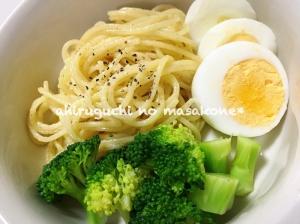 簡単シンプル♪卵とブロッコリーのスパゲティサラダ〜