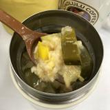 ズッキーニとパプリカのまいたけスープ オートミール