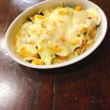 ドリアソースで ゆで卵とかぼちゃのグラタン