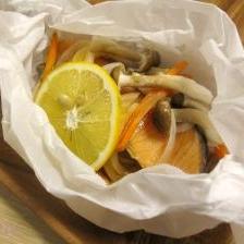 レンジでチン♪簡単鮭の包み焼き風 お弁当にも!
