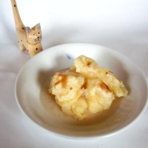 ヘルシー豆腐餅にメイプル香るミルクソース♪