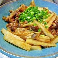 豚肉と長芋のマヨ&オイスター炒め