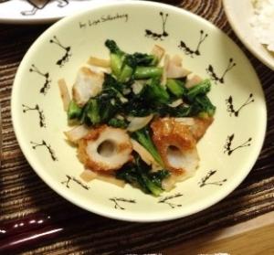 ちくわと小松菜のさっと炒め