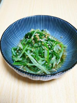 めんつゆで簡単☆水菜のごま和え